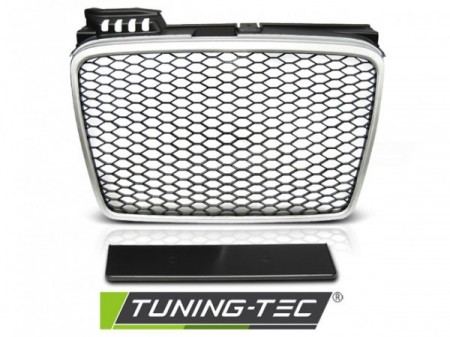 GRILLE SPORT SILVER fits AUDI A4 (B7) 11.04-03.08