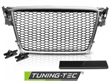 GRILLE SPORT SILVER fits AUDI A4 B8 08-11