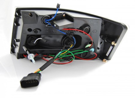 LED TAIL LIGHTS BLACK fits AUDI A6 C6 SEDAN 04.04-08 7PIN