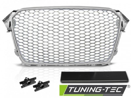 GRILLE SPORT SILVER fits AUDI A4 (B8) 11.11-15