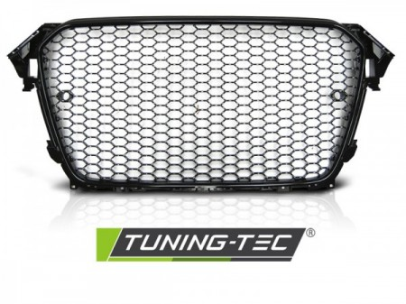 GRILLE SPORT GLOSSY FRAME BLACK PDC fits AUDI A4 B8 11.11-15