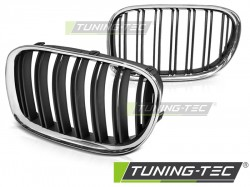 GRILLE CHROME BLACK DOUBLE BAR fits BMW F01 09-15