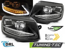 VW T6 15- BLACK TUBE LIGHT LED SEQ DRL