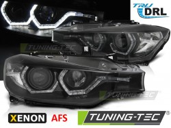 BMW F30/F31 10.11 - 05.15 ANGEL EYES LED BLACK HID AFS DRL