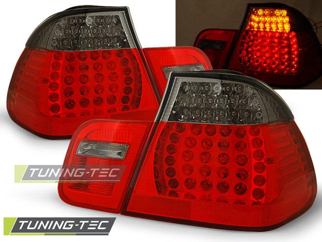 LED Rückleuchten Heckleuchten Set 3er BMW E46 Limo 98-01 rot/smoke