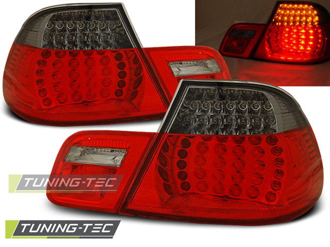 LED Rückleuchten Heckleuchten Set 3er BMW E46 Coupe 99-03 rot/smoke