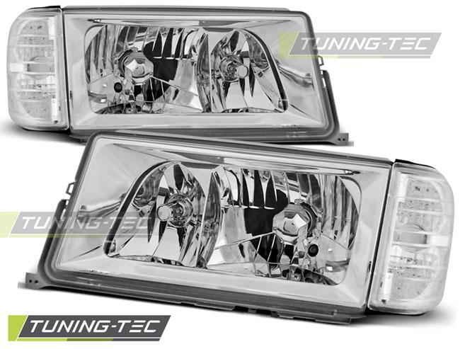 Klarglas Scheinwerfer Set Mercedes Benz 190 W201 82-93 chrom mit Blinker