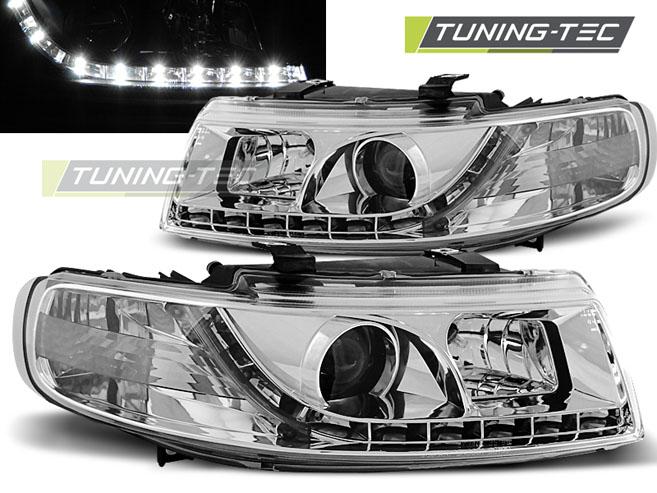 LED Tagfahrlicht Optik Scheinwerfer Set Seat Leon 1M Toledo 1M 98-04 chrom