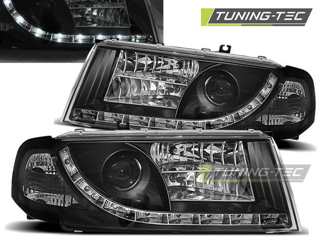 LED Tagfahrlicht Optik Scheinwerfer Set Skoda Octavia 1U 00-10 schwarz NSW