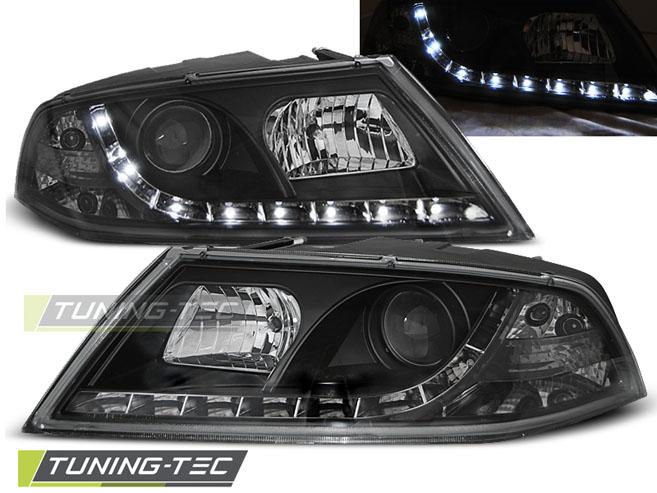 LED Tagfahrlicht Optik Scheinwerfer Set Skoda Octavia 1Z 04 - 08 Xenon D1S schwarz