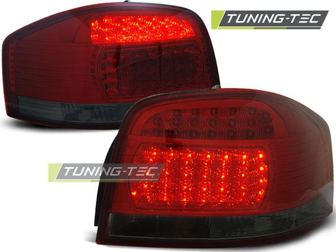 LED Rückleuchten Set Audi A3 8P 3 Türer 2003 - 2005 rot/smoke LDAU67