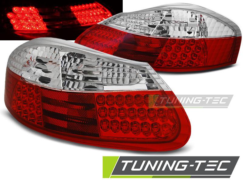 LED Rückleuchten Heckleuchten Set Porsche Boxster 986  1996 - 2004 klar/rot