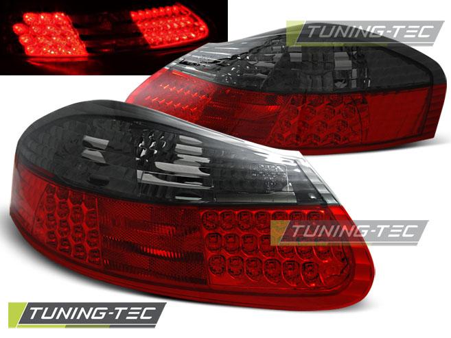 LED Rückleuchten Heckleuchten Set Porsche Boxster 986 1996 - 2004 rot/smoke