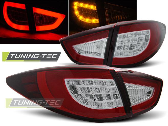 Lightbar LED Rückleuchten Heckleuchten Set Hyundai IX35 09-13 rot/klar