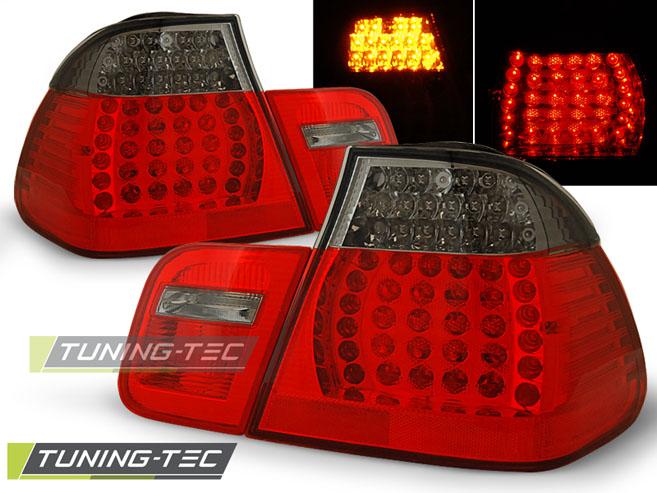 LED Rückleuchten Heckleuchten Set 3er BMW E46 Limo 01-05 rot/smoke