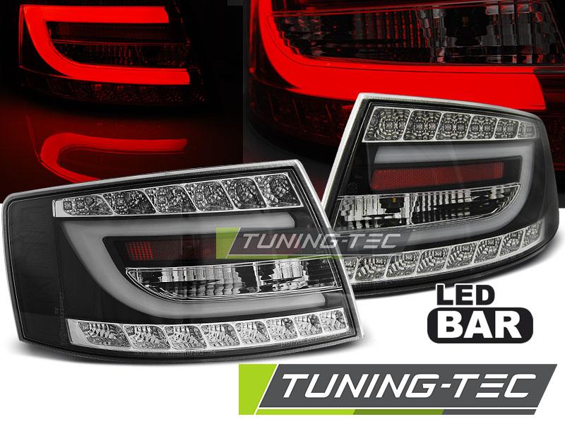 Lightbar LED Rückleuchten Heckleuchten Audi A6 4F Limo 04-08 schwarz 7-Pin