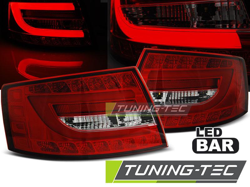 Lightbar LED Rückleuchten Heckleuchten Audi A6 4F Limo 04-08 rot/klar 7-Pin