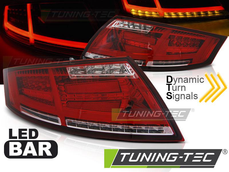 Lightbar LED Rückleuchten Set Audi TT 8J 06-14 rot/klar dynamischem Blinker