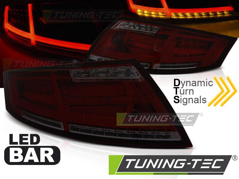 Lightbar LED Rückleuchten Set Audi TT 8J 06-14 rot/smoke dynamischem Blinker