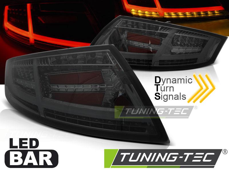 Lightbar LED Rückleuchten Set Audi TT 8J 06-14 smoke dynamischem Blinker