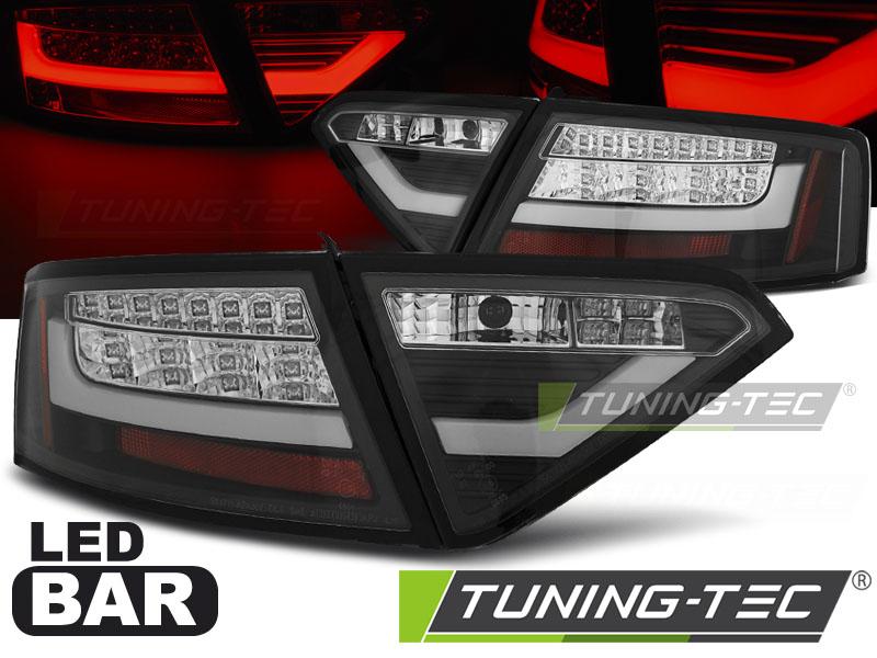 Lightbar LED Rückleuchten Set Audi A5 8T Coupe Sportback 07-11 schwarz