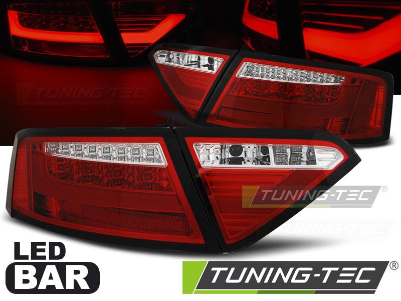 Lightbar LED Rückleuchten Set Audi A5 8T Coupe Sportback 07-11 rot/klar