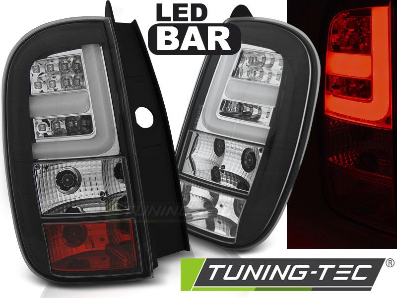 Lightbar LED Rückleuchten Heckleuchten Set Dacia Duster 2010 + schwarz