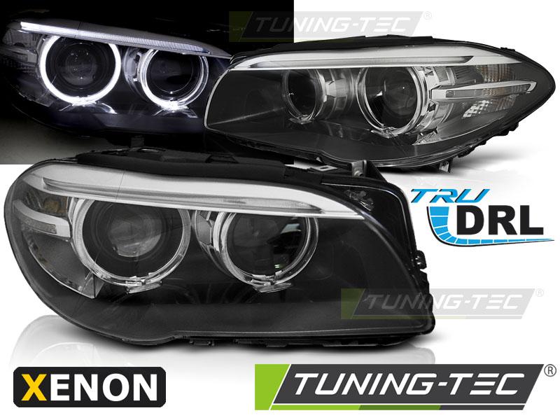 LED Tagfahrlicht Scheinwerfer Set 5er BMW F10 F11 2009 - 2013 schwarz Xenon