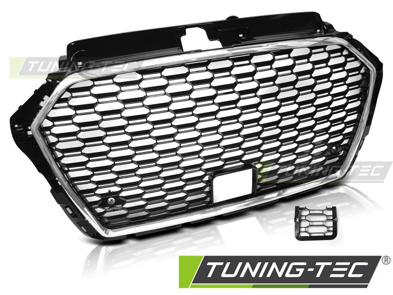 Kühlergrill Frontgrill Wabengrill für Audi A3 8V 16 - Limo Sportback Cabrio Schwarz / Chrom