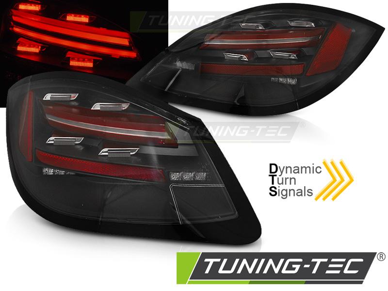 Lightbar LED Rückleuchten Set Porsche Boxster 987 Cayman 09-12 schwarz Laufblinker