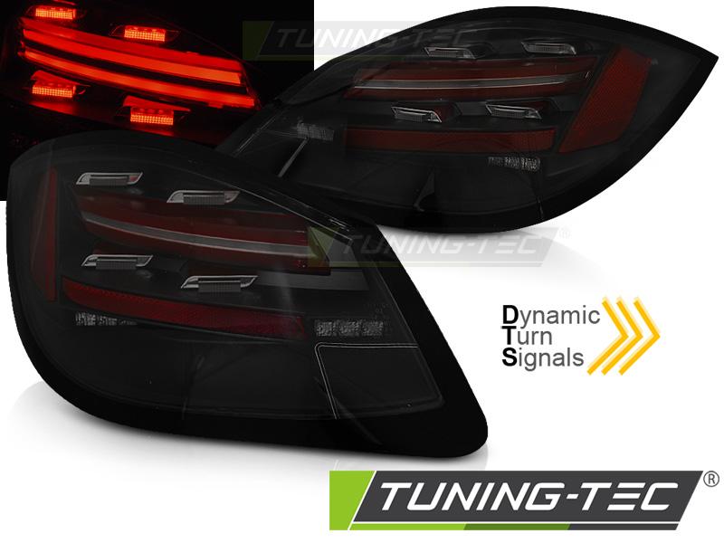 Lightbar LED Rückleuchten Set Porsche Boxster 987 Cayman 09-12 schwarz smoke Laufblinker